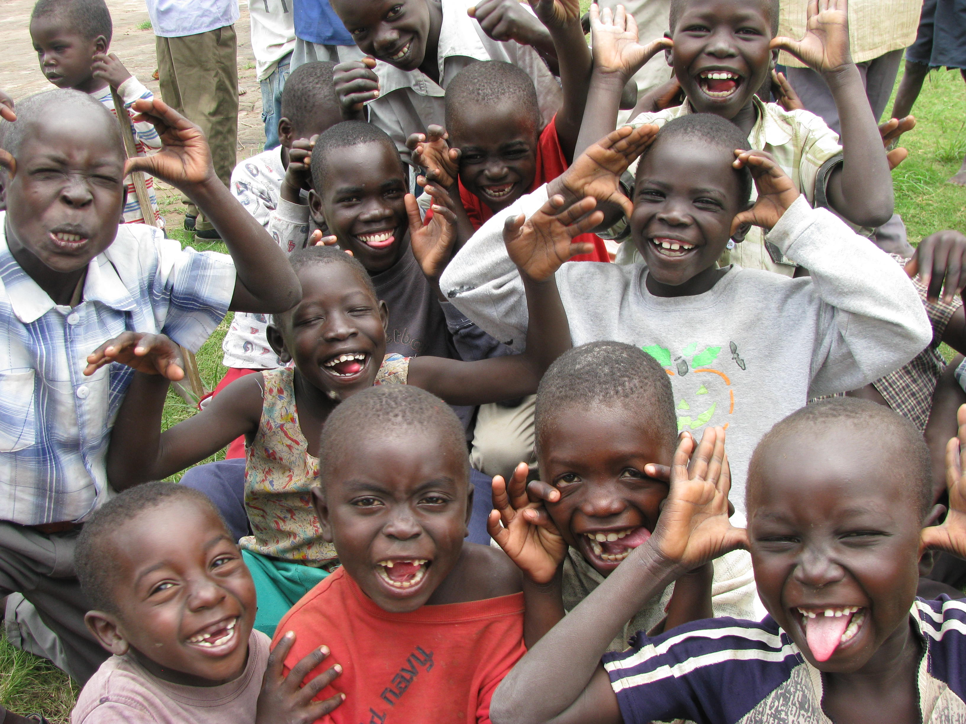 Happy African Children With FoodHappy African Children With Food